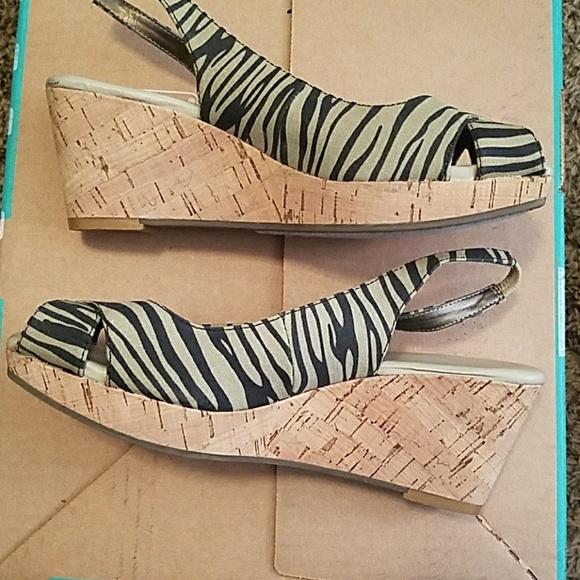 e97c31ec7adc1 Easy Spirit Shoes - JCPenney Wedge Tan n black Zebra