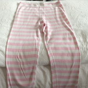 Hanna Anderson Pajamas - Girls pink & white pajamas