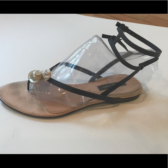 945ef40122f0 Sergio Rossi Shoes | Double Ankle Strap Flat Sandal 375 | Poshmark