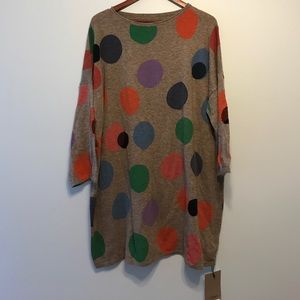 Dresses & Skirts - Oversized colorful polka dotted sweater dress