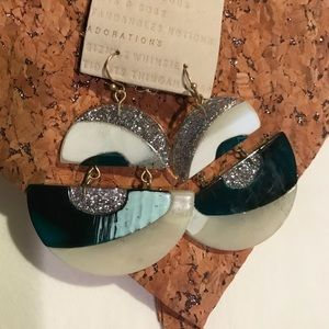 Anthropologie Jewelry - NWT Anthropologie lucite earrings