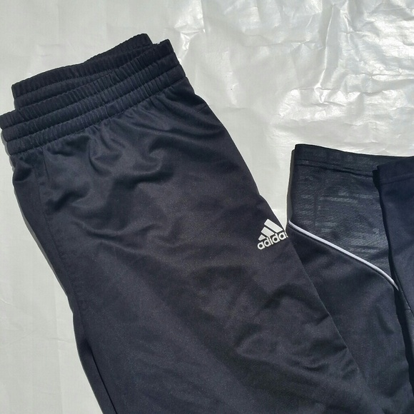 BLACK ADIDAS BASKETBALL TRACK SWEATPANTS PANTS |