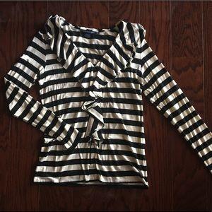 Ralph Lauren L ruffled shirt