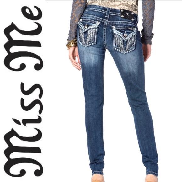 Miss Me Denim - Miss Me Angel Wing Skinny Jeans