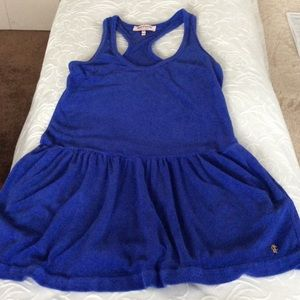 Women's Royal Blue Juicy Couture Terrycloth dress.