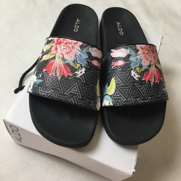 aldo shoes floral chaerien slides poshmark