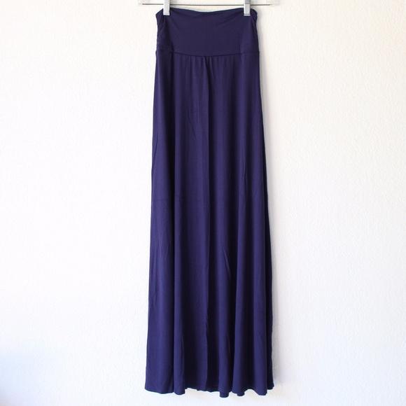 216e3c670c bobeau Dresses & Skirts - Bobeau Ruched Waist Side Slit Maxi Skirt