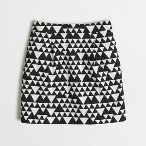 J. Crew Triangle Jacquard Skirt