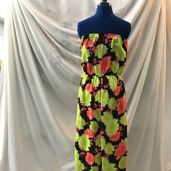 Speed Central New York Dresses & Skirts - Speed Central NY Green/Pink Dress Sz L