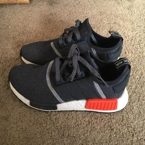 NMDs size 4 in men, barely worn