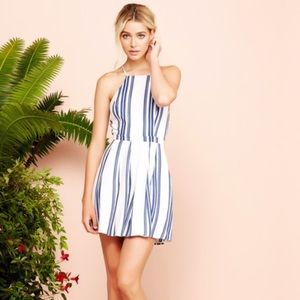 Lovers + Friends Forget Me Not Striped Dress XS