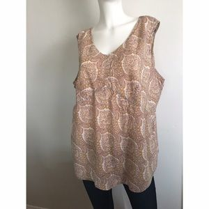 CJ Banks Christopher & Banks Paisley Tank Sz 2X