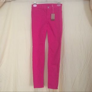 J Girl by J Brand Hot Pink Skinny Jeans Size 14
