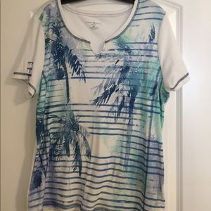 Karen Scott Palm Tree inspired t-shirt