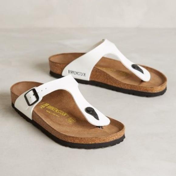 d63ab5a5bd3f Birkenstock Shoes - Birkenstock    Gizeh Sandal in White