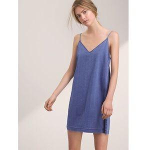 Aritzia Wilfred Free Vivienne Denim Dress