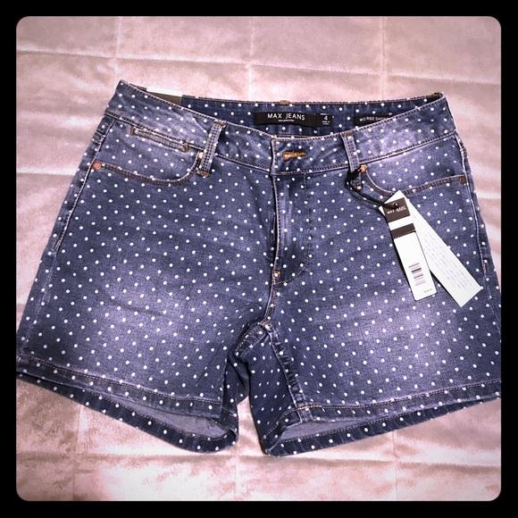 be72ff8654561 Polka dot jean shorts NWT