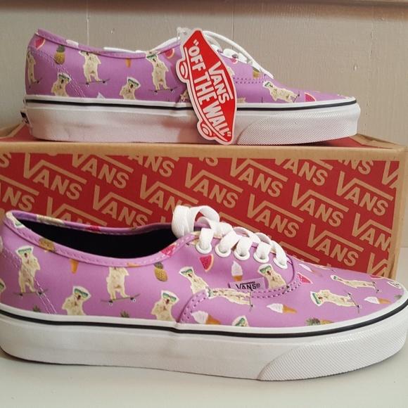 8e7199b77e79fb NWT VANS Dog on Skateboard Shoes