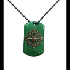 Jewelry - Compass Dog Tag Necklace