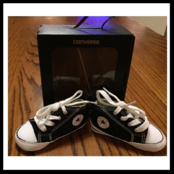 e6ed33bf209d5c In First Shoes Black Converse Poshmark Star 2 Size Crib wAIfUwq for ...