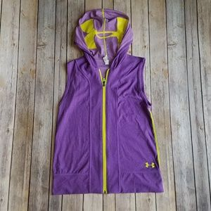 Girls UA Sleeveless Zip Up Hoodie