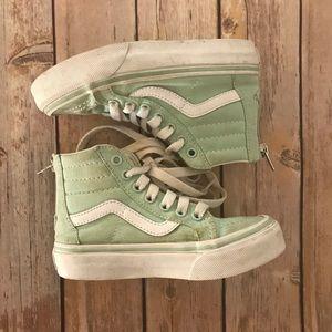 Little kids Vans old Skool High tops mint green