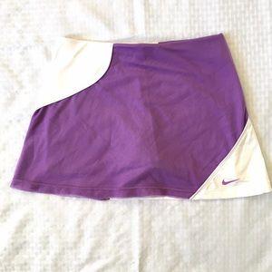 Nike Dri Fit Tennis Skirt Shorts Liner Purple Mesh