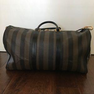 0f1f3a87168 Fendi Bags   Striped Pequin Weekend Travel Duffle Bag   Poshmark