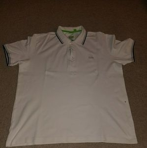 Hugo Boss white tight fitting polo shirt size xxl