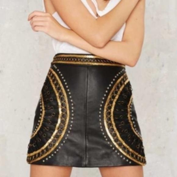 384156e44c Nasty Gal Skirts | Black And Gold Sequin Mini Skirt | Poshmark