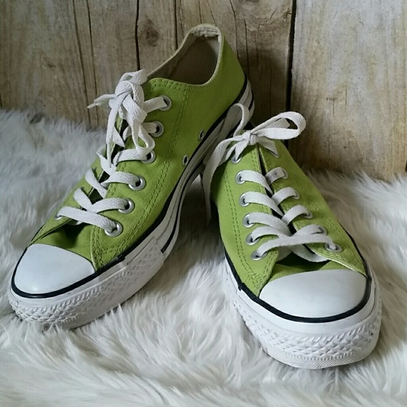 0c8fb8b474bb Converse Shoes - Converse All Star Low Tops Lime Green Shoes Size 8