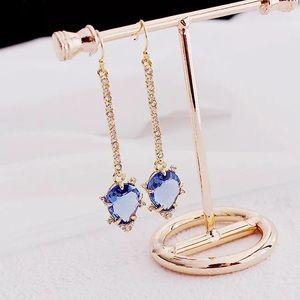 🍁SALE🍁Alexis Bittar blue crystal drop earrings