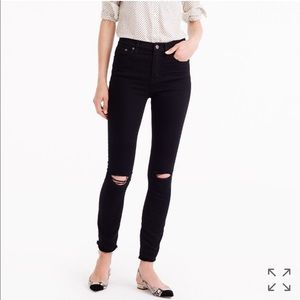J.Crew High Rise Destructed Lookout Black Jeans