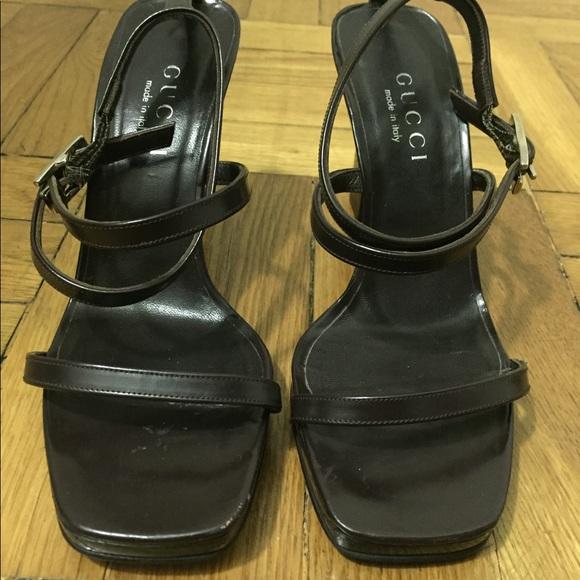 585dec9ec Gucci Shoes | Authentic Vintage Strappy Leather Heel | Poshmark