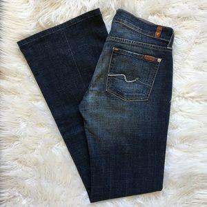 7 For All Mankind 'DOJO' Jeans Wide Leg Flare 27