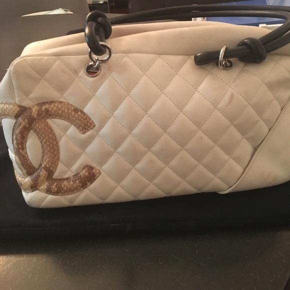 e5b19cbb3722 CHANEL Bags | Authentic Cambone White Snakeskin Bag | Poshmark