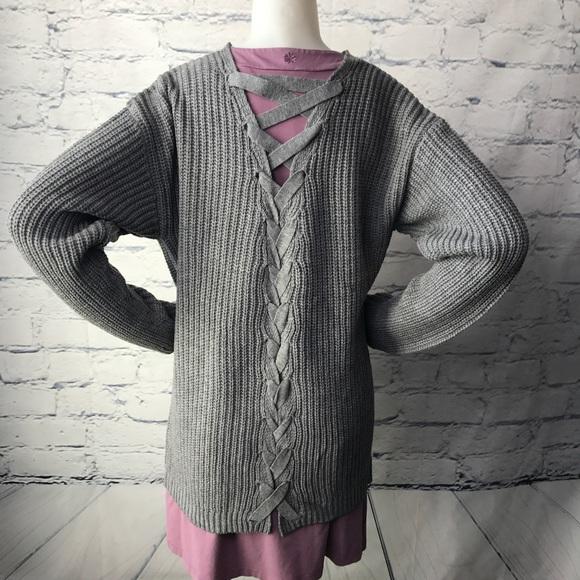 in digo sweaters criss cross back cardigan sweater poshmark
