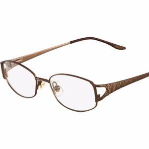 Accessories - Marchon Tres Jolie Eyeglasses 144 Toffee Metal