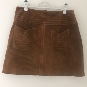 Free People suede skirt
