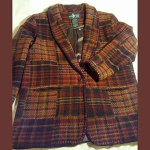 Vintage Classic Hunt Club Blanket Stitch Blazer~M