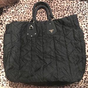 100% AUTHENTIC prada tessuto gaffe handbag for sale