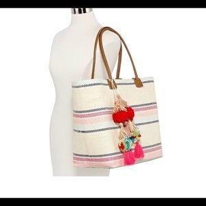 Handbags - Multi stripe tote