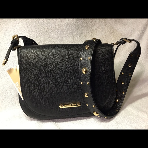 19018726d202be MICHAEL Michael Kors Bags | Hayes Studded Lg Messenger Leather Cross ...