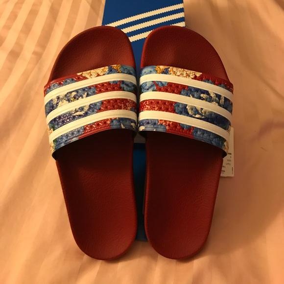 1fb7ee5aa23573 adidas Shoes - Adidas Adilette Floral Slides