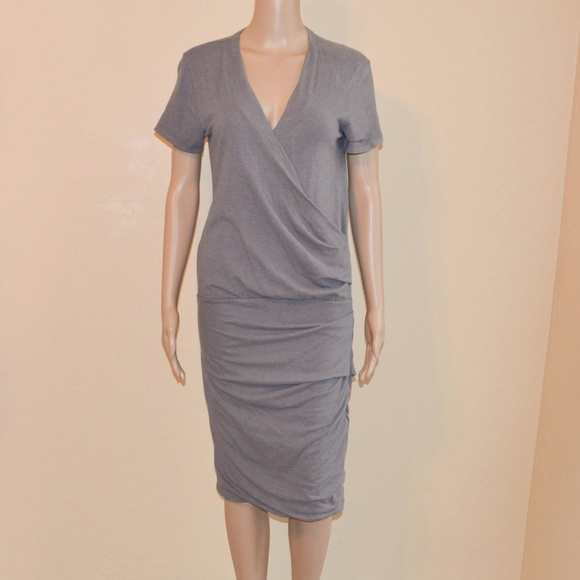 James Perse Dresses & Skirts - James Perse Size 3 or L Fitted Bottom Ruched Dress