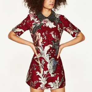 Zara jacquard patches dress