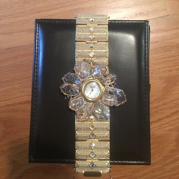 Badgley Mischka Accessories - Badgley Mischka crystal statement watch