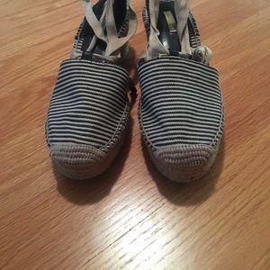 Louise et Cie Shoes - Louise et Cie ankle wrap striped espadrilles