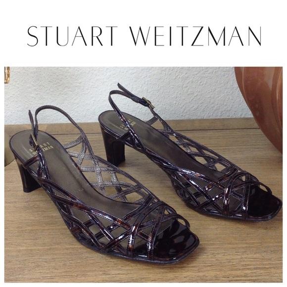 fd4e4747fedc Stuart Weitzman Tortoise Shell Slingback Sandals. M 59a42a0ef739bcf57909f34c