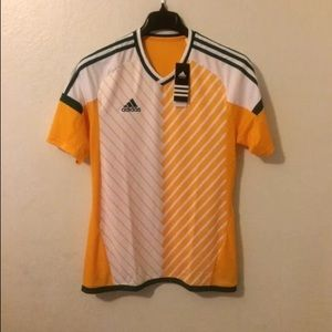 ADIDAS Climacool Mens  Green/Yellow V Neck Jersey